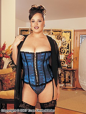 Korsett i satin, plus size, 2
